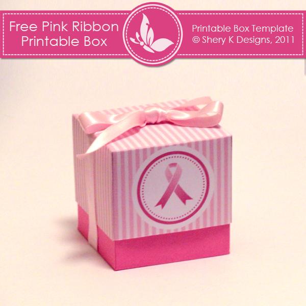 Free Printable Box Pink Ribbon \u2013 Shery K Designs