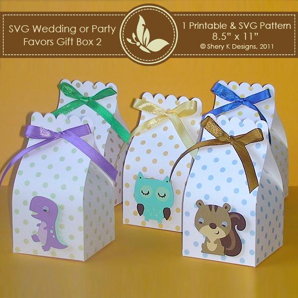 SVG  Printable Favors Gift Box 2 \u2013 Shery K Designs - gift box template free