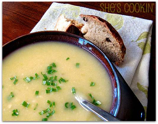 Potato-Leek-Soup, St. Patrick's day recipes, potato soup, leek soup