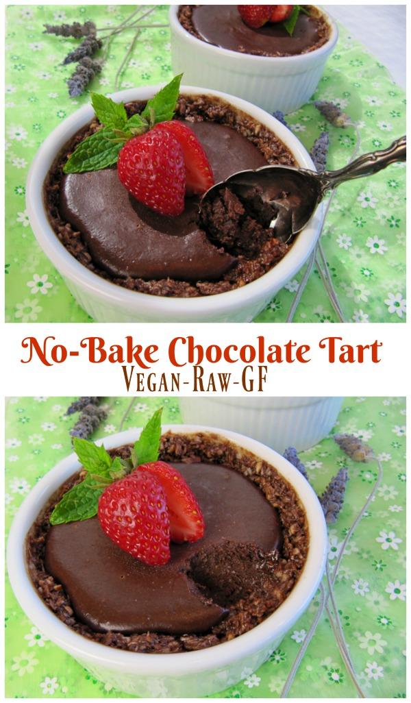 Vegan No-Bake Chocolate Tart | ShesCookin.com