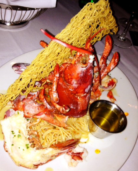 Savannah Chop House, Lobster with Cappelini