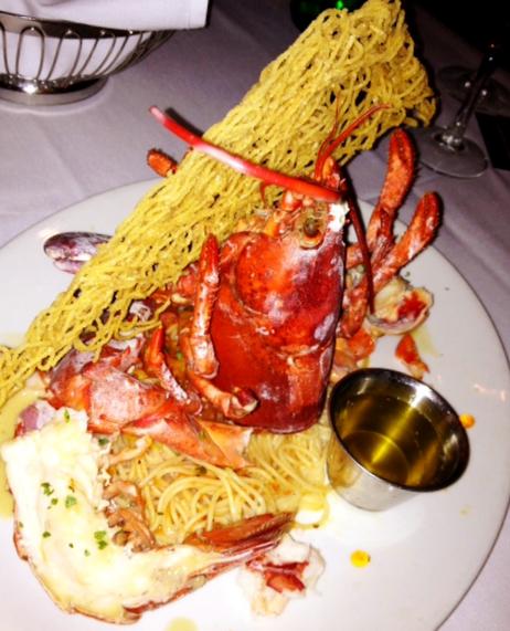 Savannah Chop House, Lobster with Cappelini