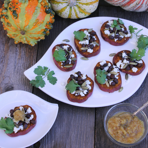 sweet potato crostini, gluten free crostini