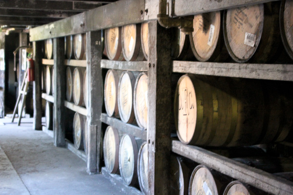 Buffalo Trace Distillery tour, barrel room