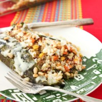 Obsessed with Chiles: Quinoa Stuffed Chile Rellenos