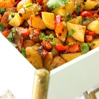 Spicy Middle Eastern Roasted Potatoes {Batata Harra}