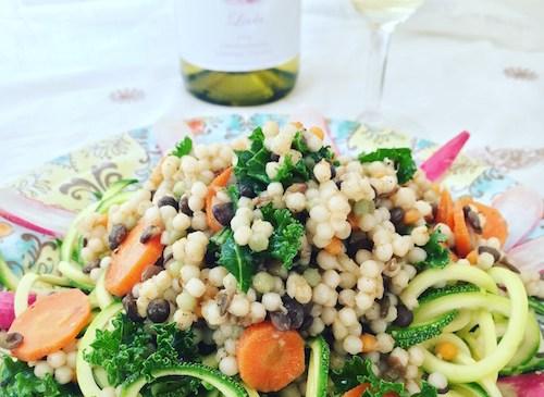 Couscous-Lentil Zoodle Salad |ShesCookin.com