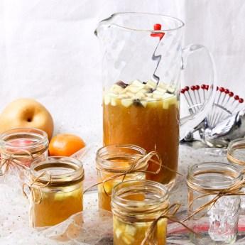 Bourbon Apple Cider Fruit Punch | ShesCookin.com
