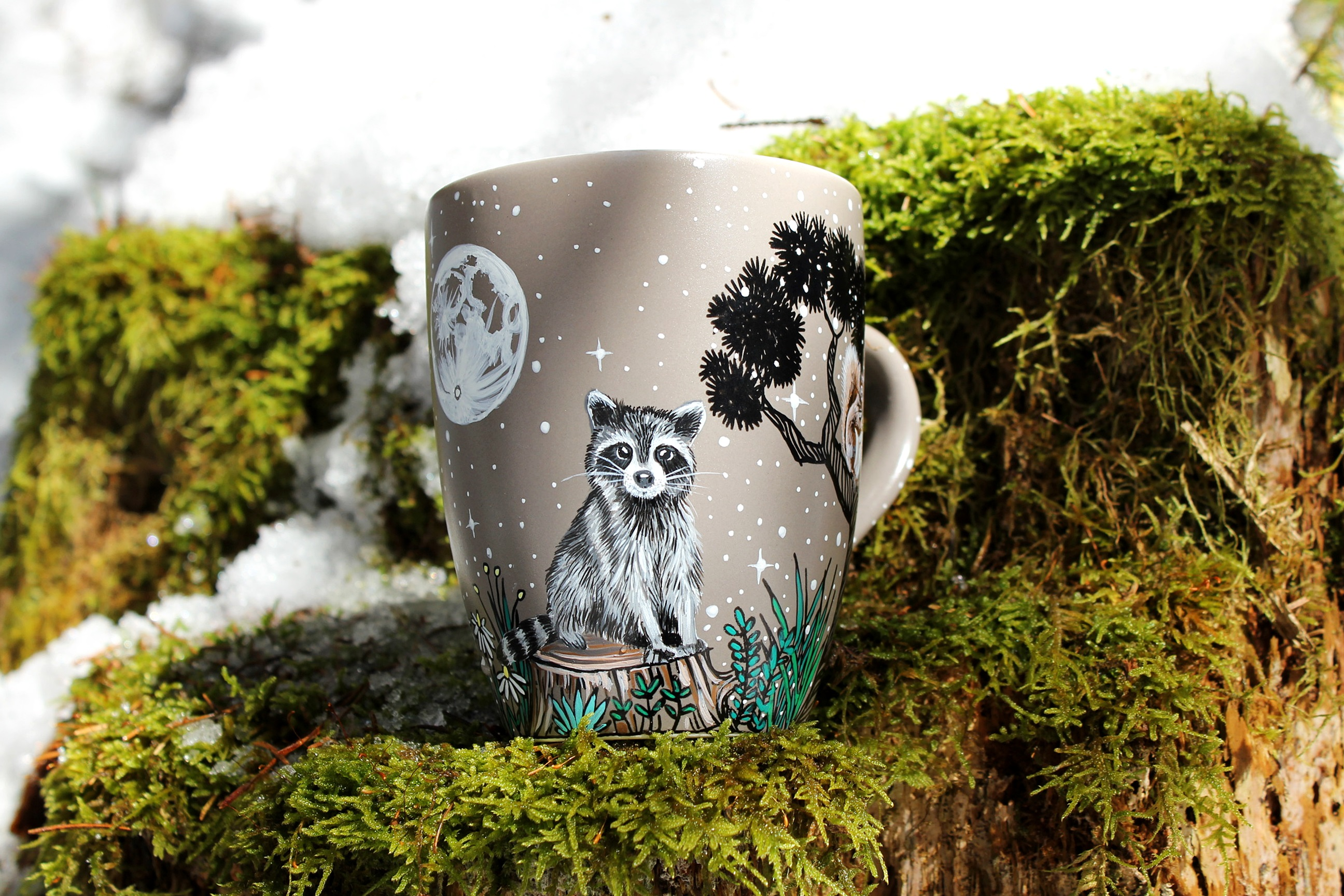 Animal Coffee Mug Custom Forest Animals Coffee Mug Shewolfka