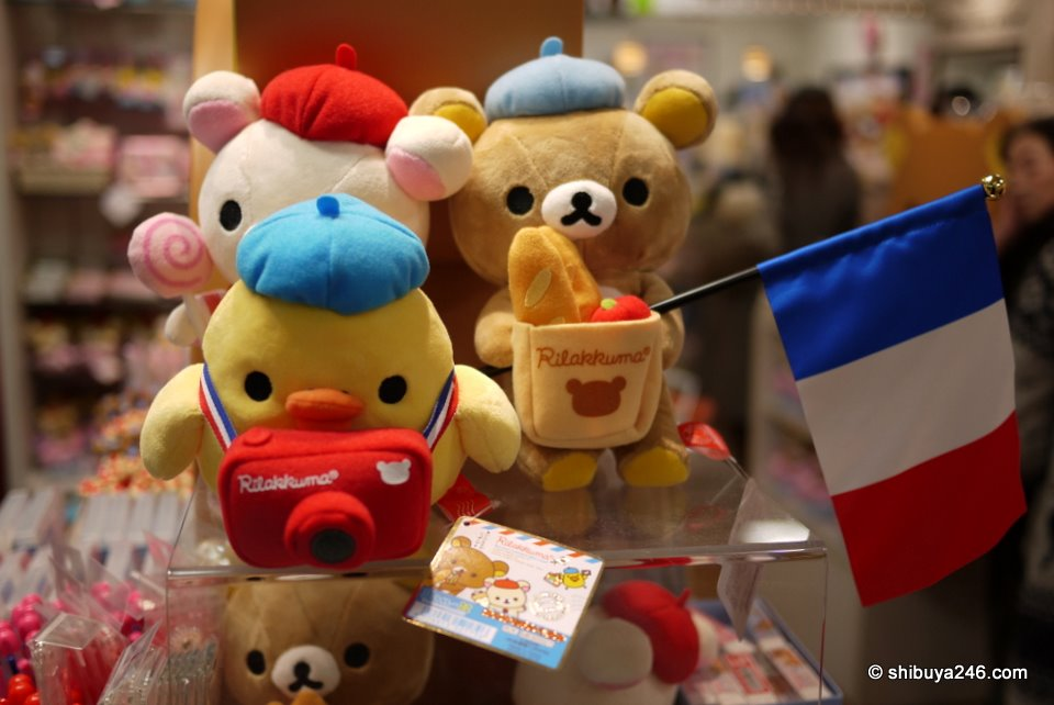 The French Bonjour Rilakkuma series came out recently. There were plenty of products in store including this set.