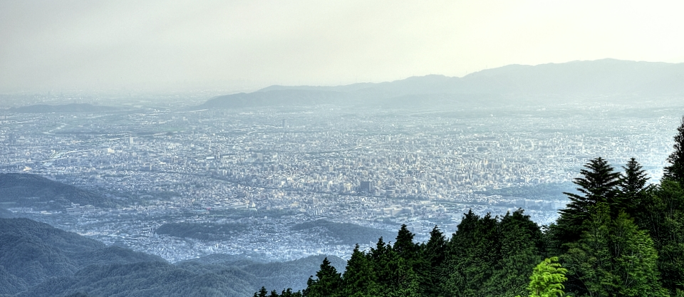 Kyoto City from Mount Hiei