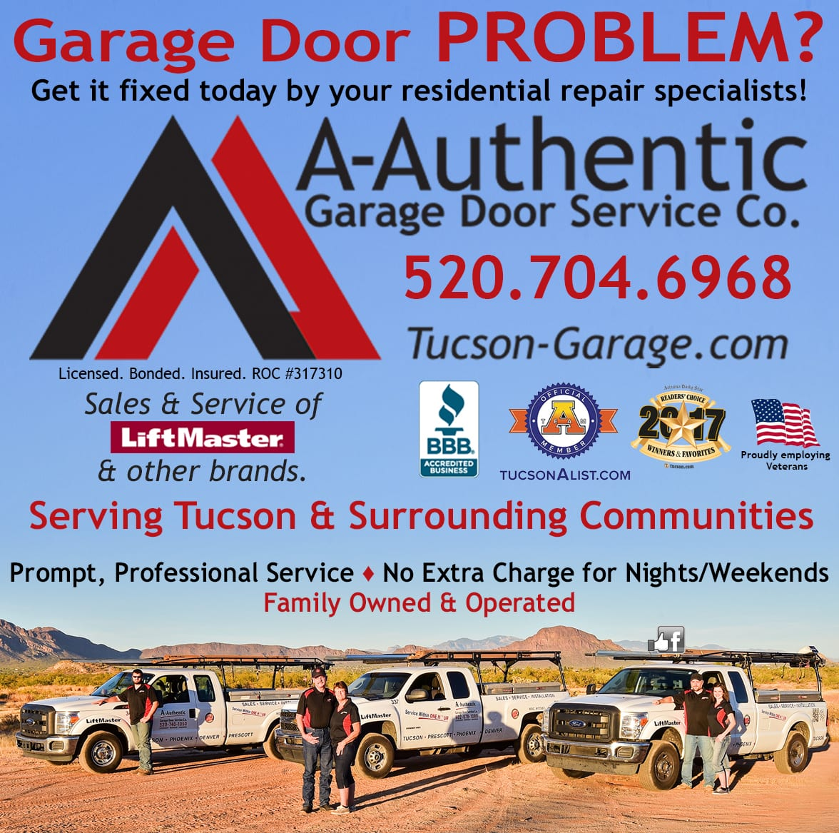 Garage Door Repair Tucson Marketing And Design Services For A Authentic In Tucson Az