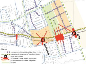 Concept piétons et vélos pour les haltes de la ligne Nyon-Saint-Cergue