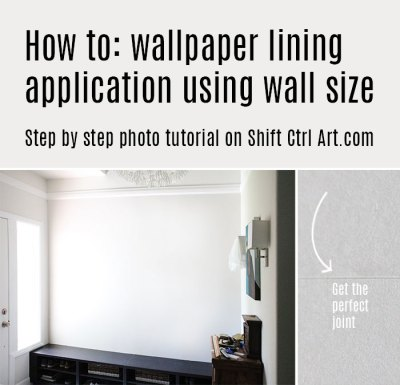 How to: apply wallpaper lining using wall size adhesive