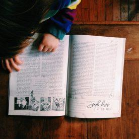 Emmi enjoying the newest issue of KBR :)