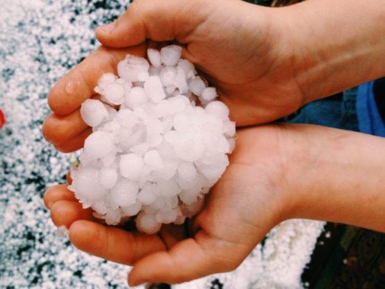 Hail::Texas Snow in April