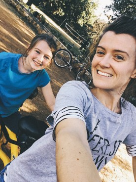 riding the tandem with Bekah