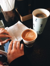 Coffee with sisters