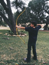 Archery Lessons from Abel!