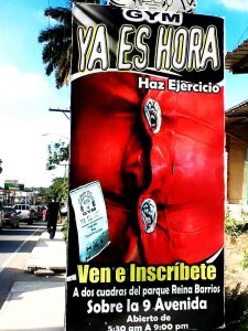 Puerto Barrios Gym Poster