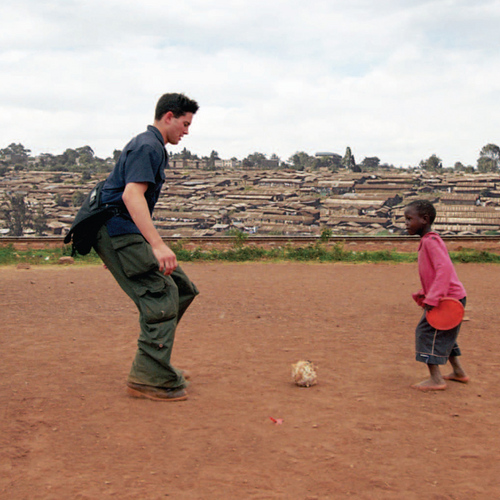 Rye Barcott in Kibera Kenya Carolina for Kibera, a social entrepreneur, CFK