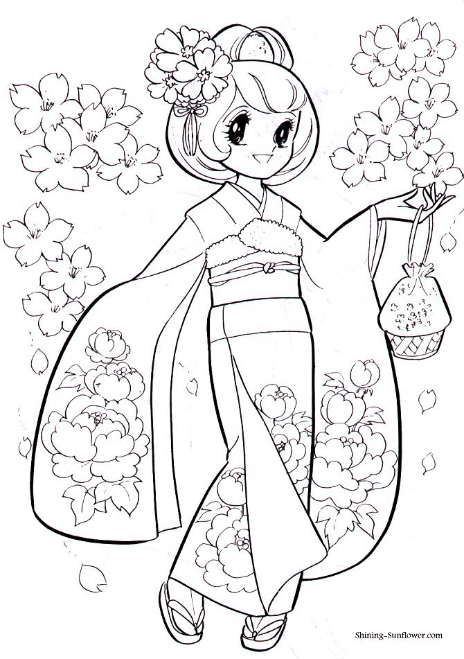 Japanese Shoujo Coloring Book 2 - Mama Mia - Picasa Web Albums - new coloring pages girl games