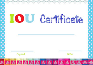 Select and print iou certificates and cards fresh designs for Iou letter template