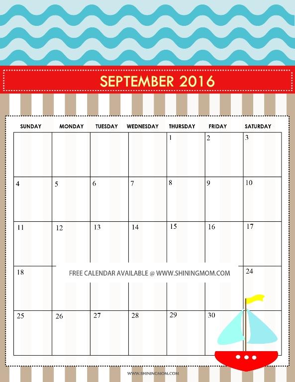 free printable september calendar - Josemulinohouse - kids calendar template