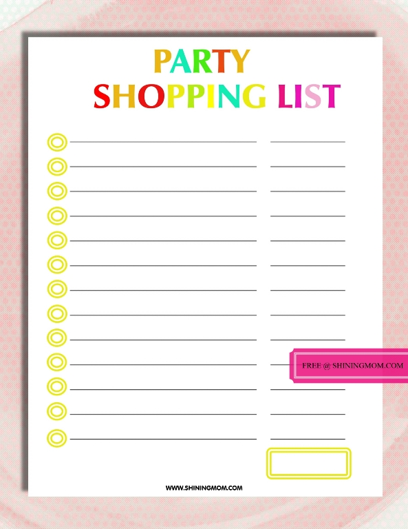 Free Printable Party Planning Template - party planning templates