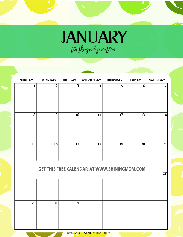 The second calendar in this set, your February 2017 printable calendar ...