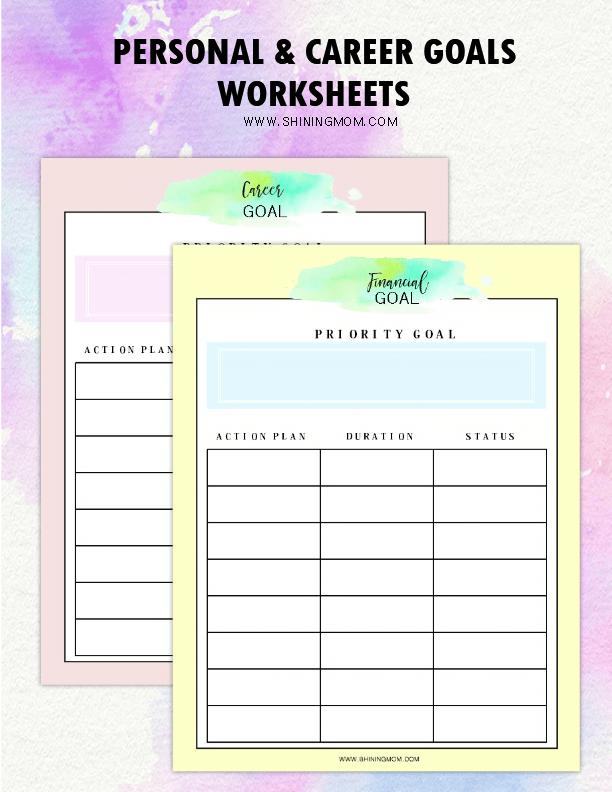 Goal setting worksheet excel