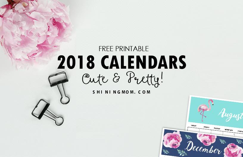 free month calendar 2019