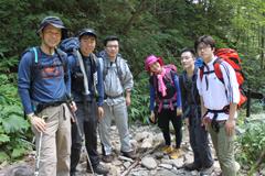 烏帽子沢付近を登山中(8月8日午前)