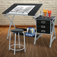 ZENY Adjustable Drafting Table Art & Craft Drawing Desk ...