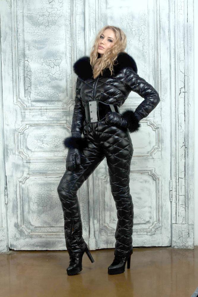 Daddys Girl Wallpaper Black Down Suit Shiny Nylon