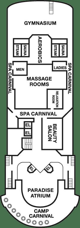 boat layout carnival paradise