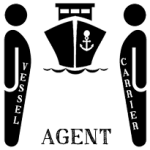 Difference between Vessel agent and Carrier agent