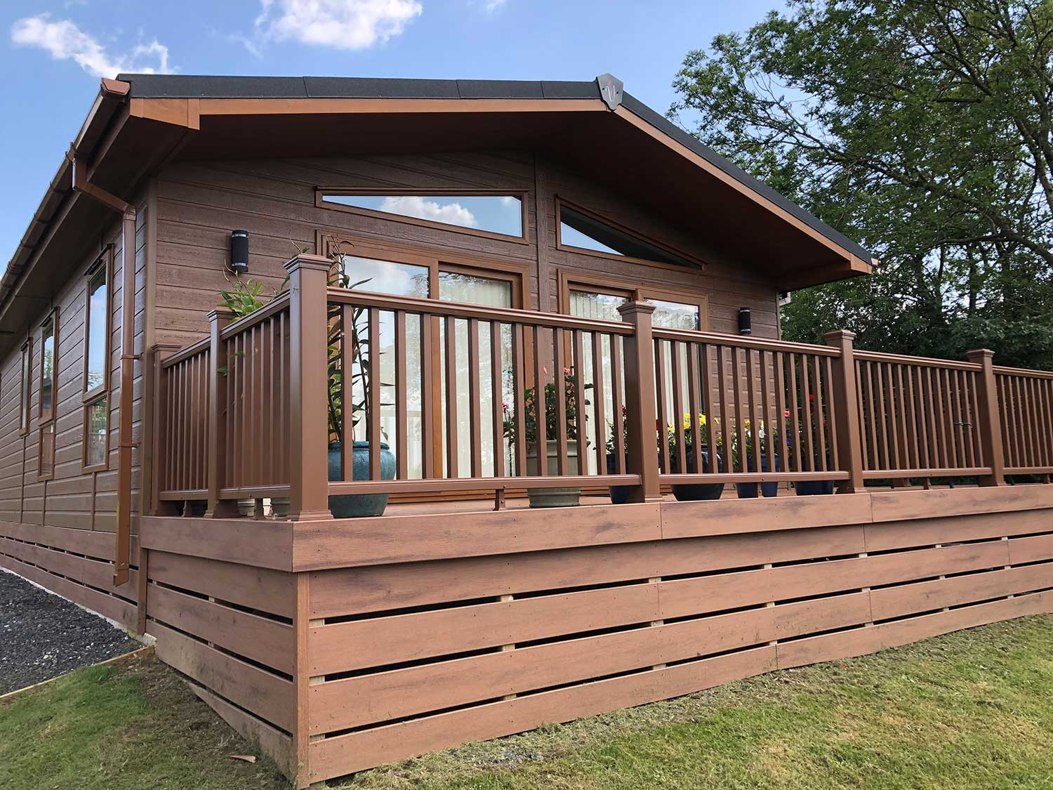 Decking Panels Lodge Cladding And Composite Decking Shire Homes