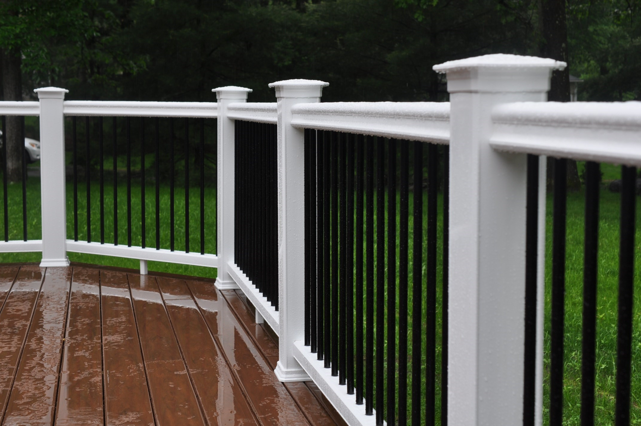Installing Vinyl Fence Posts Without Concrete Decks & Railings | Shiretown Home Improvements & Glass