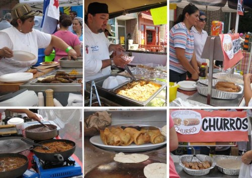 the cooks and their food at Salsa Street Festival