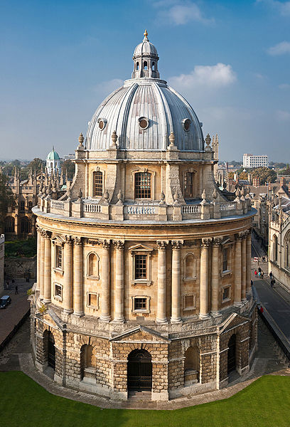 Radcliffe Camera building in Oxford, UK
