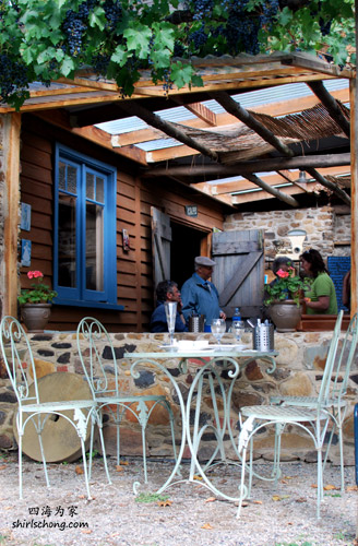 Cafe in the lavender farm at Daylesford, VIC, Australia