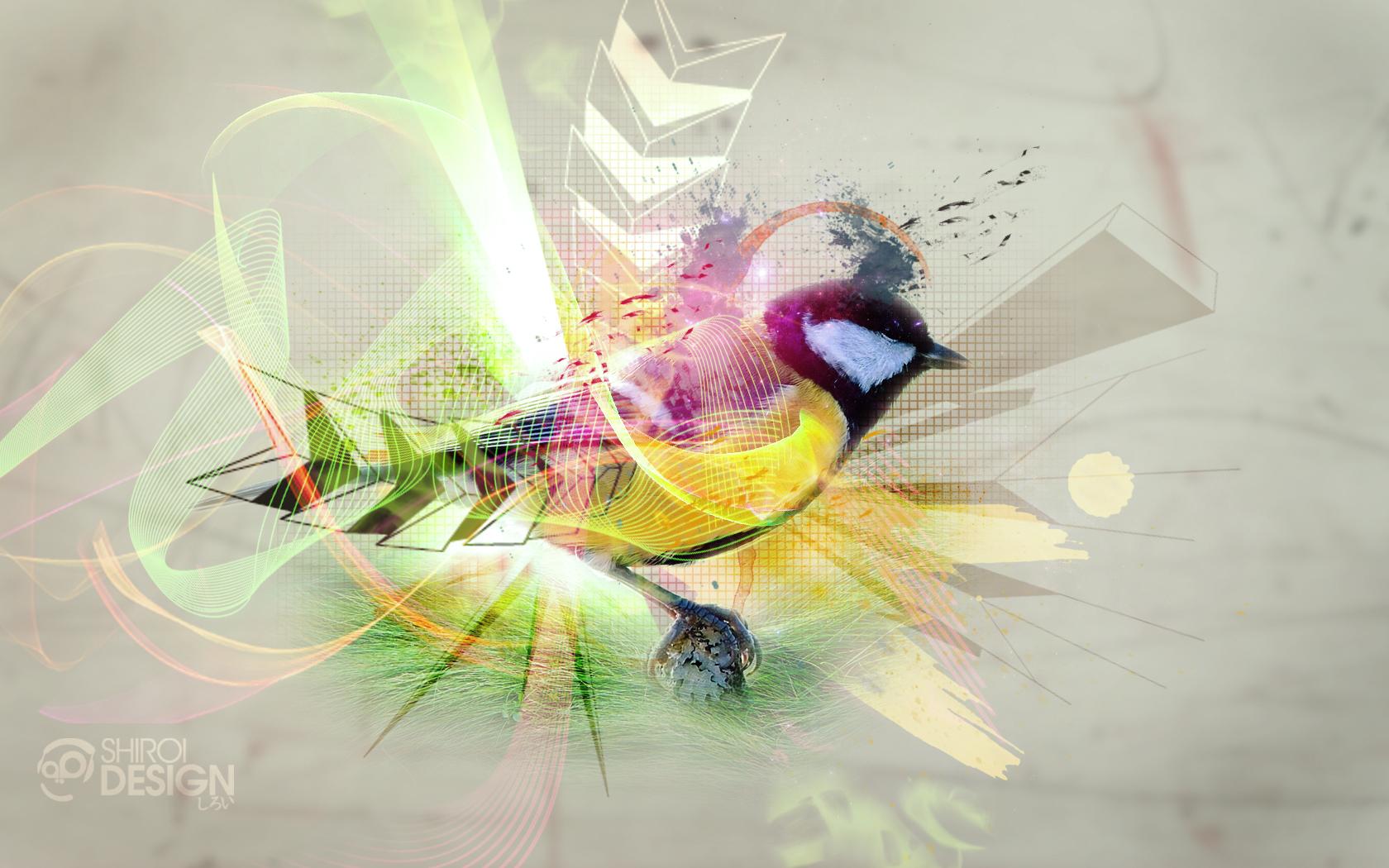 Wallpaper Geometric Hd Bird At Artwork Shiroi Design