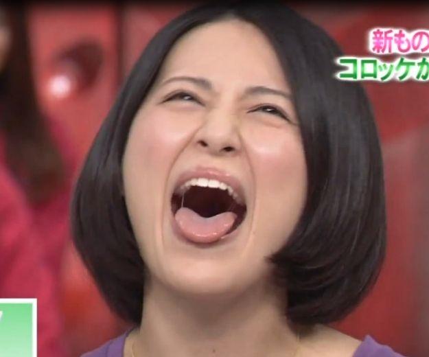 福田彩乃の唾糸舌見せ
