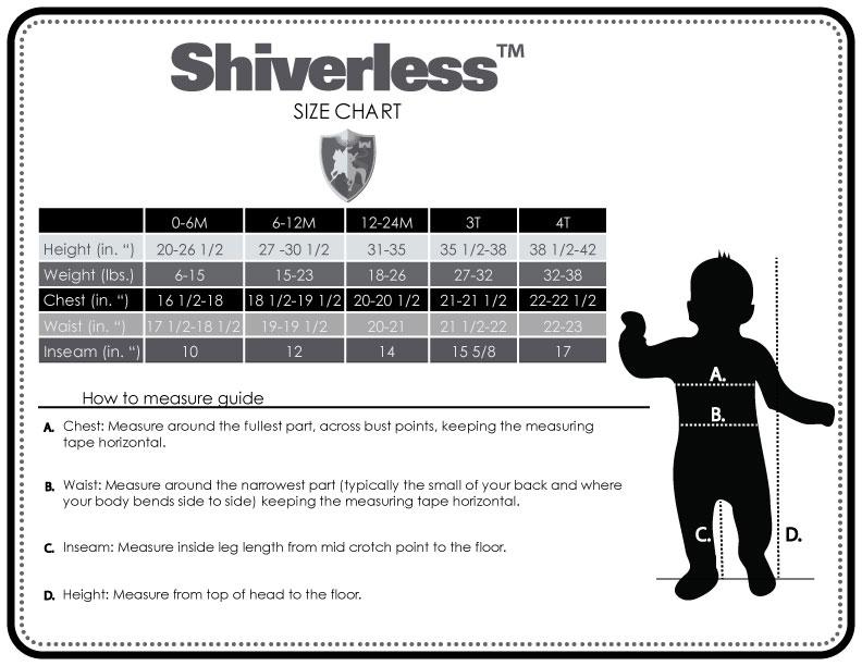 Size Chart - Shiverless