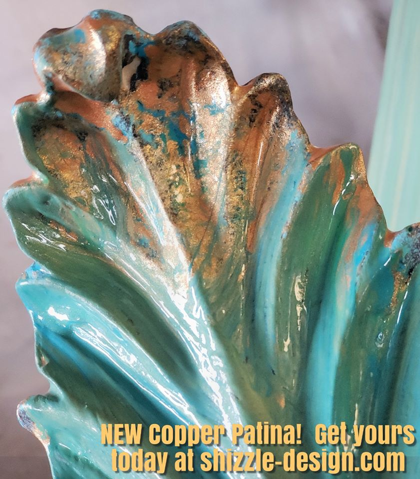 Shizzle Design Beautiful Verdigris Wax Copper Patina Stain Blockers From Debi S Design Diary Diy Chalk Clay Paints