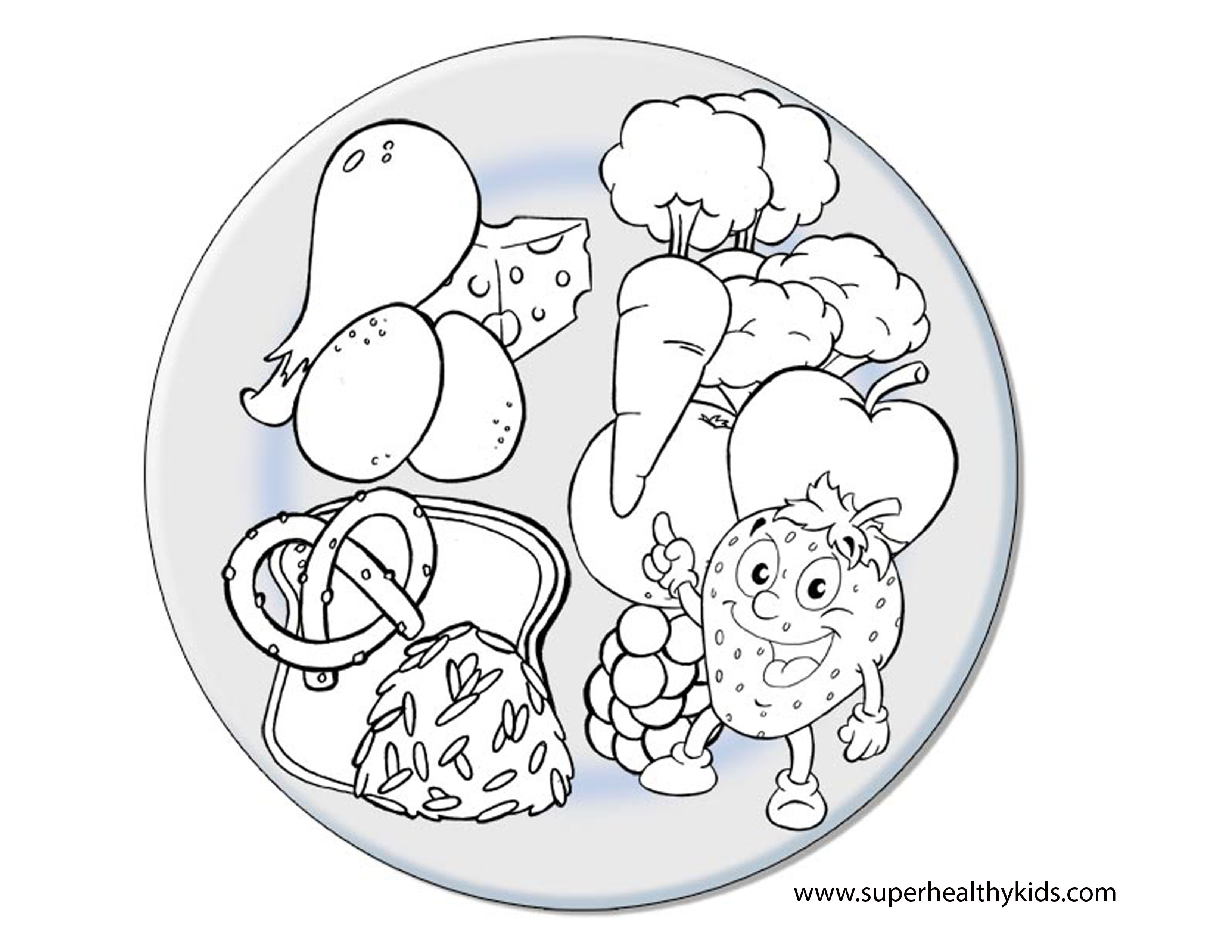 childrens food colouring pictures : Healthy Food Coloring Pages Coloring Pages To Download And Print