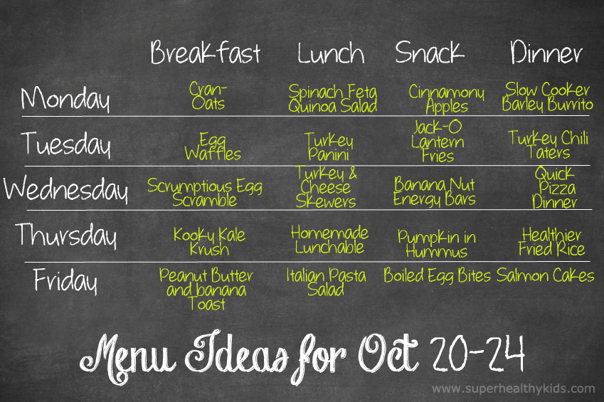 Healthy Meal Plans Super Healthy Kids - healthy meal plan