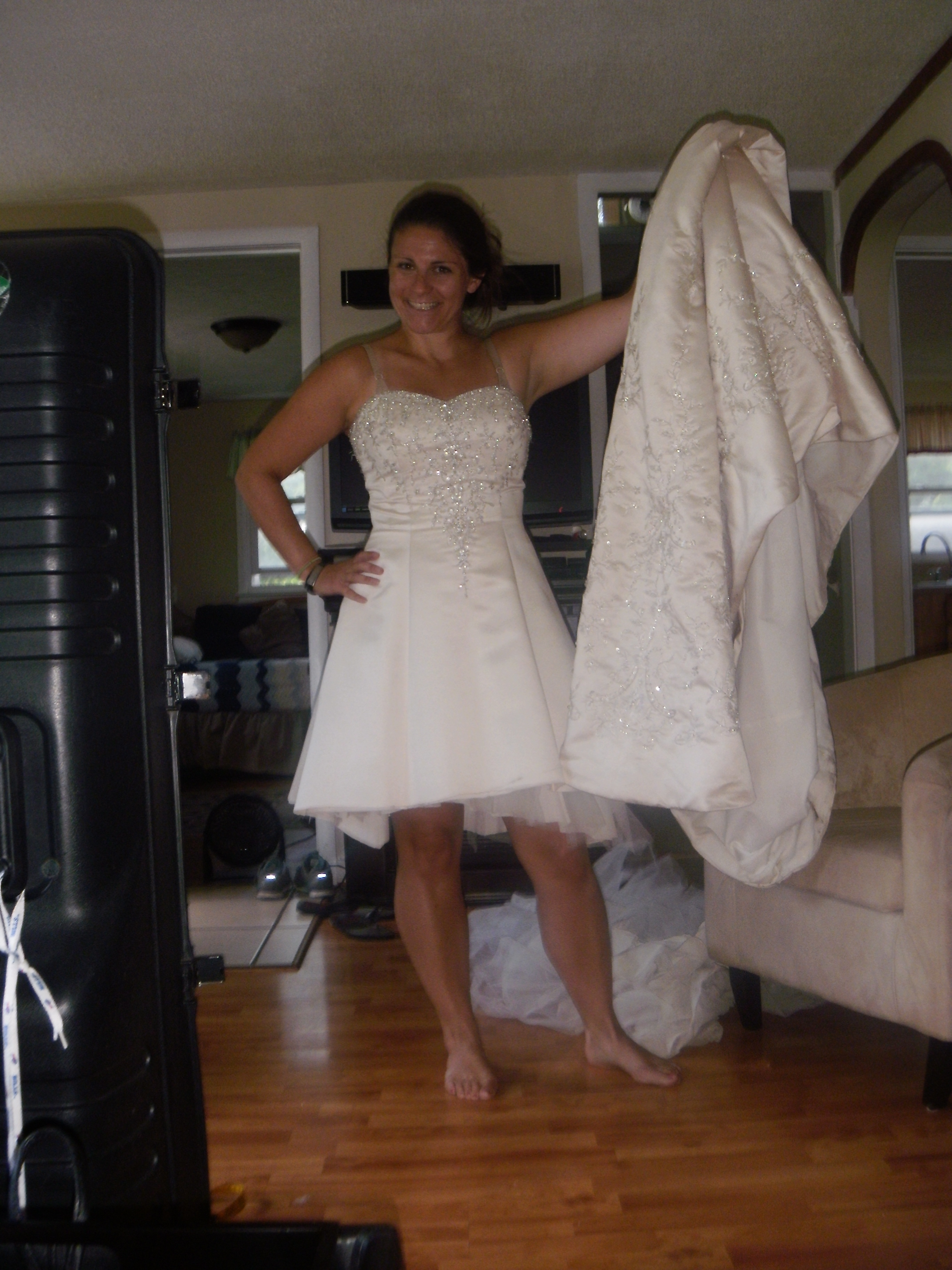 christmas in august a new tree skirt from my old wedding dress christmas wedding dresses Image