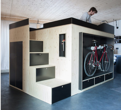 Holger Moormann All-in-one Living Cube — Shoebox Dwelling | Finding